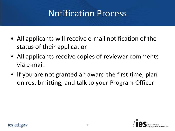 Notification Process