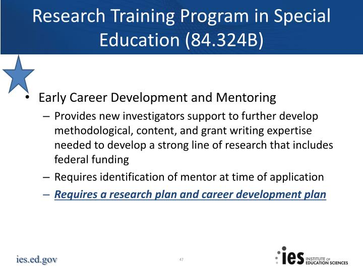 Research Training Program in Special Education (84.324B)