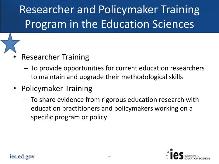 Researcher and Policymaker Training Program in the Education