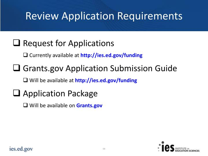 Review Application Requirements
