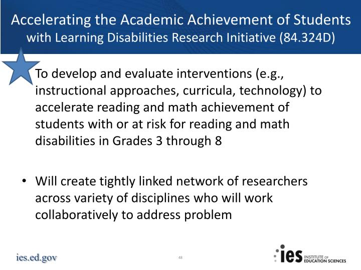Accelerating the Academic Achievement of Students