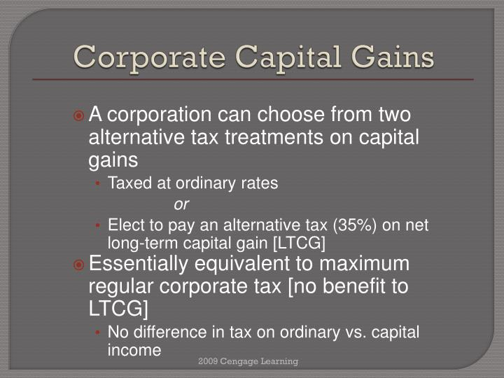 Corporate Capital Gains