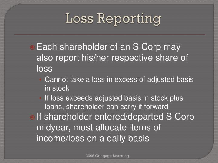 Loss Reporting