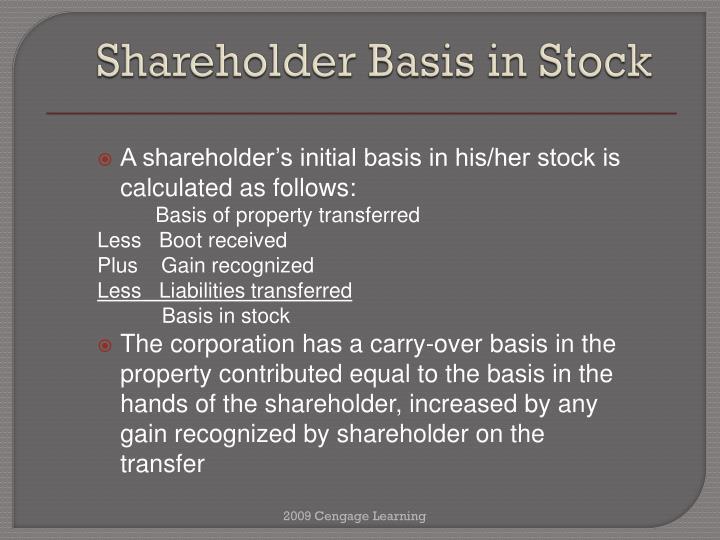 Shareholder Basis in Stock