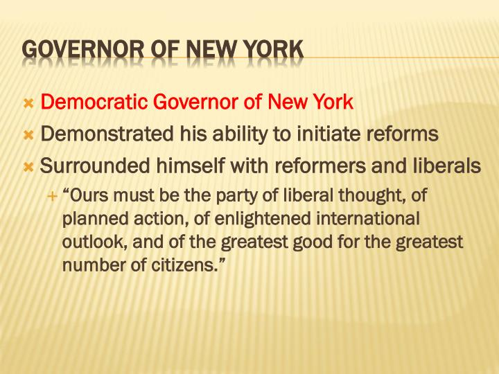 Democratic Governor of New York