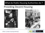 providing decent housing