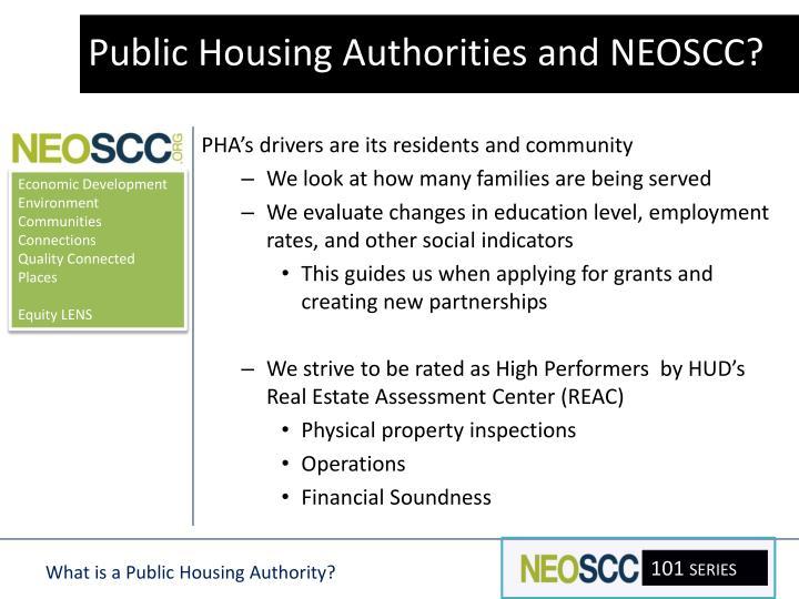 Public Housing Authorities and NEOSCC?