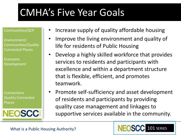 CMHA's Five Year Goals