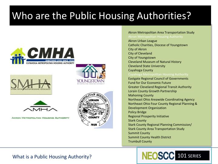 Who are the Public Housing Authorities?