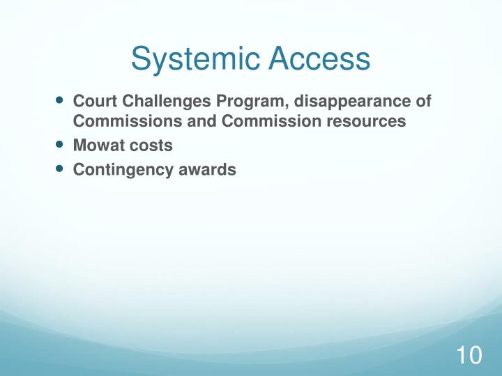 Systemic Access
