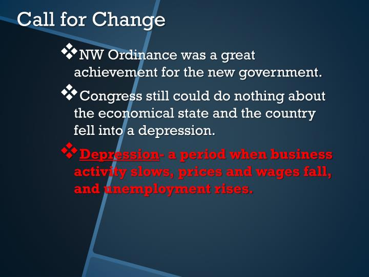 NW Ordinance was a great achievement for the new government.
