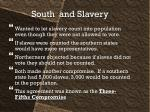 south and slavery