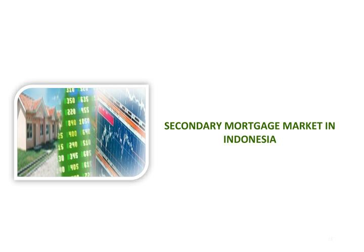 SECONDARY MORTGAGE MARKET IN INDONESIA