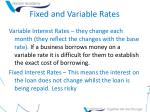 fixed and variable rates