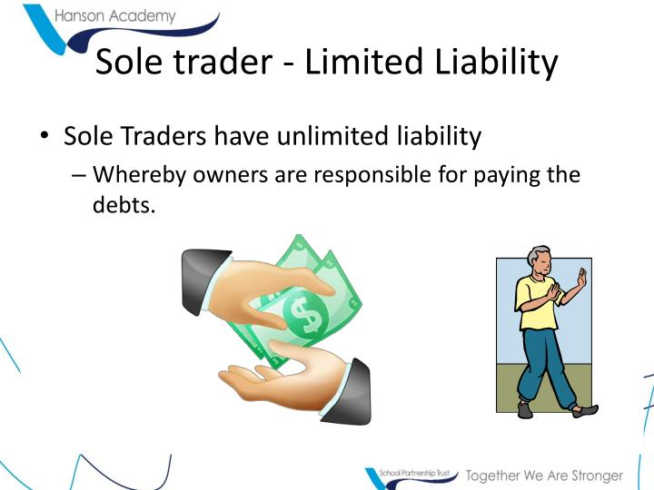 Sole trader - Limited Liability