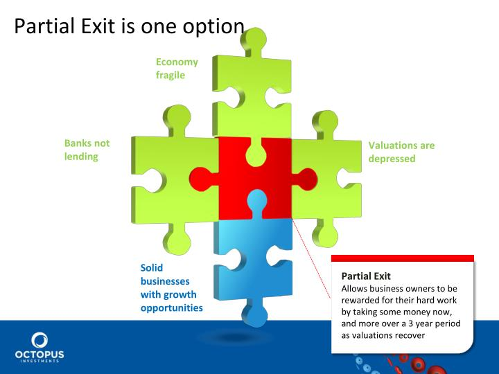 Partial Exit is one option