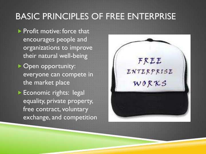 Basic Principles of free enterprise