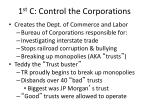 1 st c control the corporations