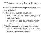 3 rd c conservation of natural resources