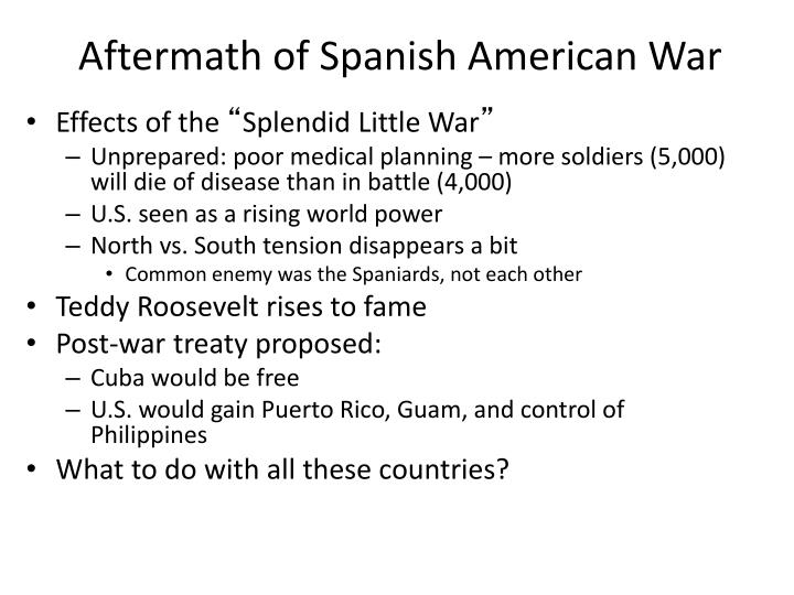 Aftermath of Spanish American War