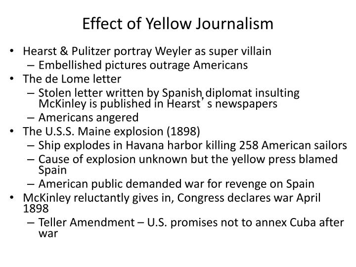 Effect of Yellow Journalism