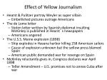 effect of yellow journalism