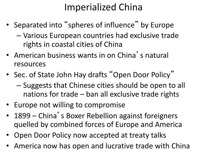 Imperialized China