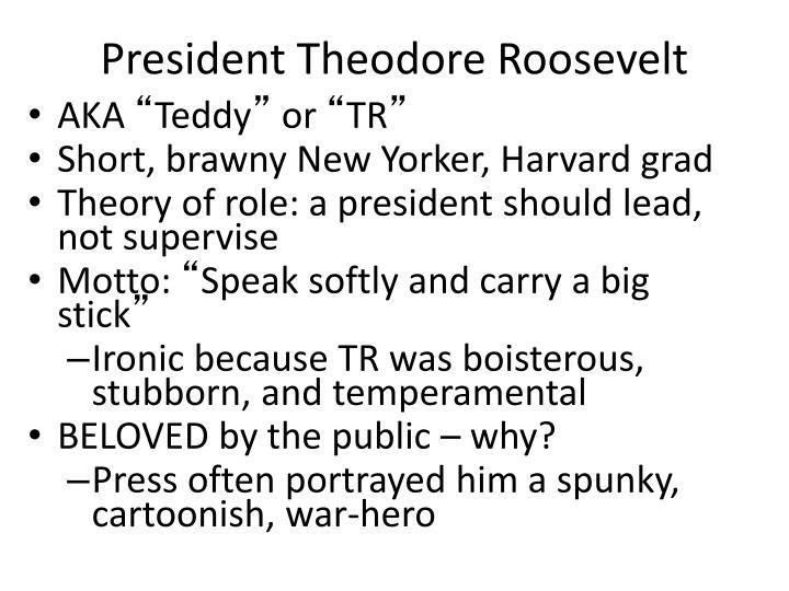 President Theodore Roosevelt