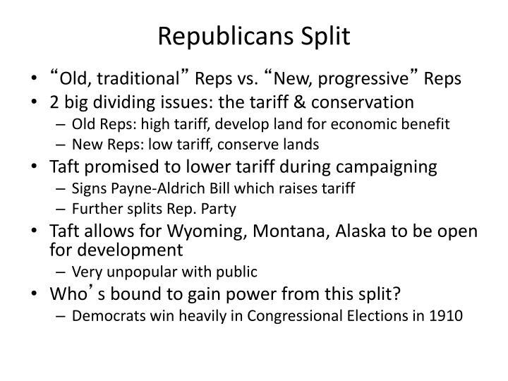 Republicans Split