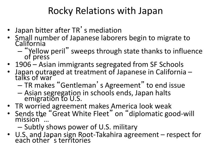 Rocky Relations with Japan