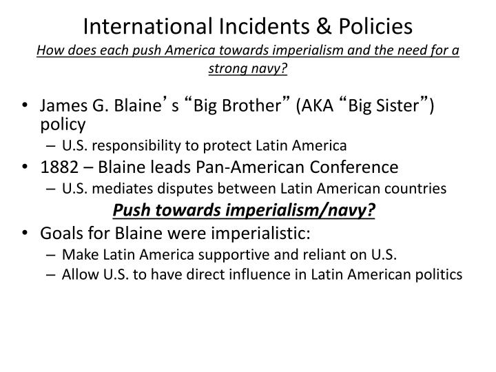 International Incidents & Policies