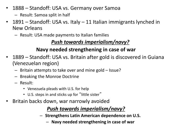 1888 – Standoff: USA vs. Germany over Samoa