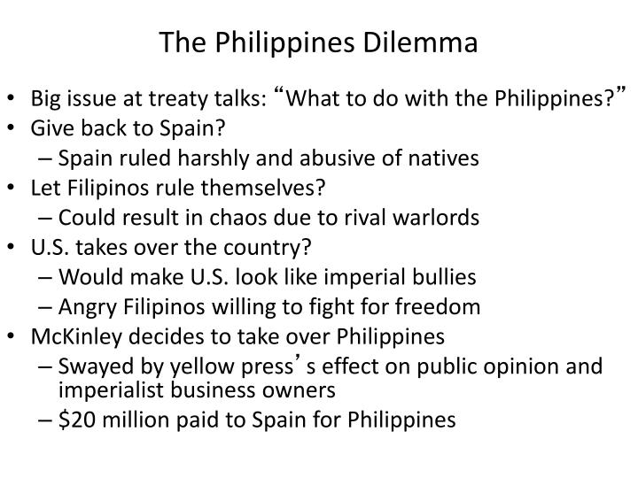 The Philippines Dilemma