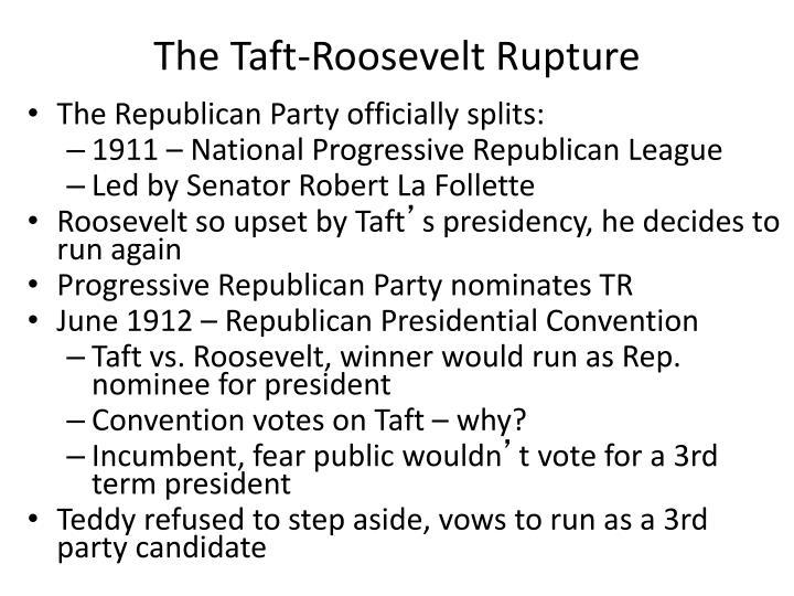 The Taft-Roosevelt Rupture