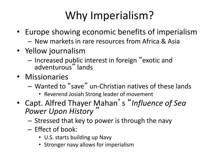 why imperialism