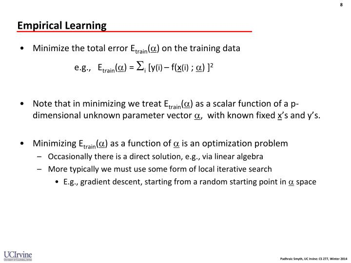 Empirical Learning