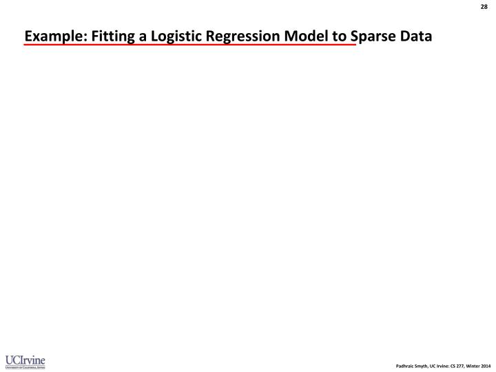 Example: Fitting a Logistic Regression Model to Sparse Data