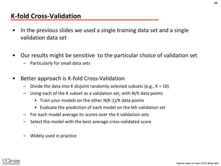 K-fold Cross-Validation