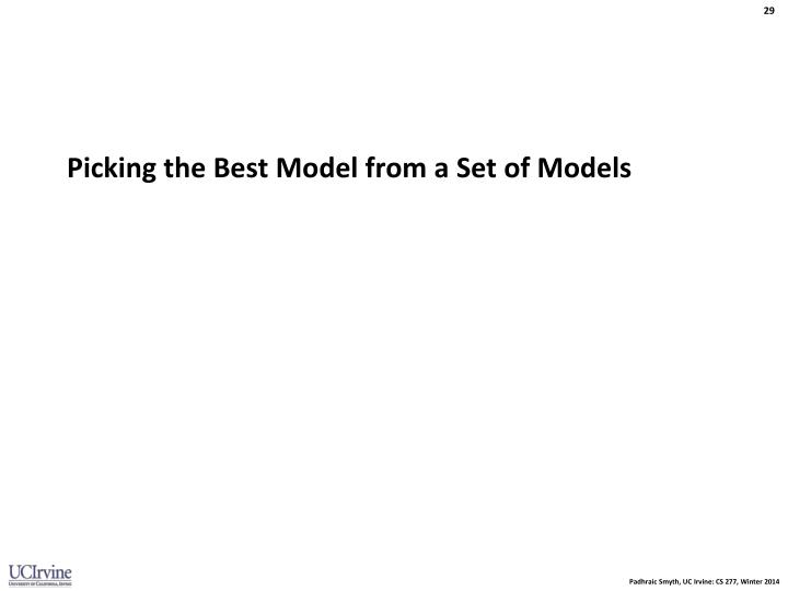 Picking the Best Model from a Set of Models