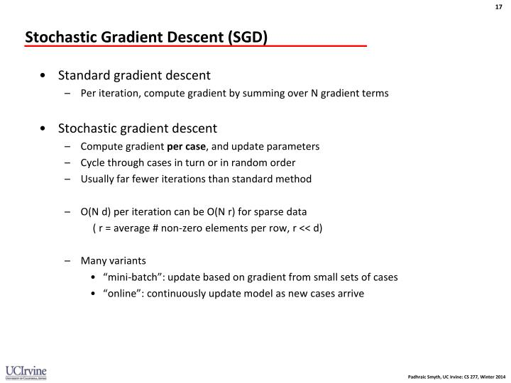 Stochastic Gradient Descent (SGD)