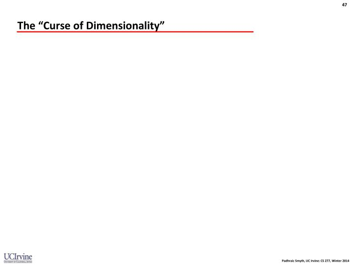 "The ""Curse of Dimensionality"""
