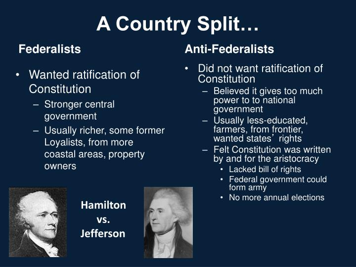 A Country Split…