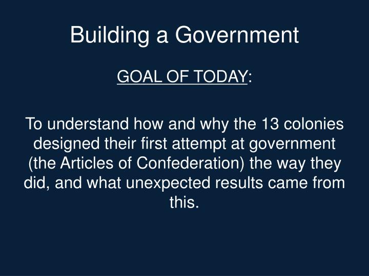 Building a Government