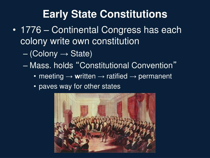 Early State Constitutions