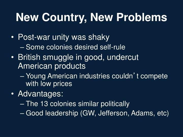 New Country, New Problems