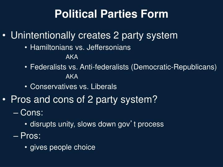 Political Parties Form