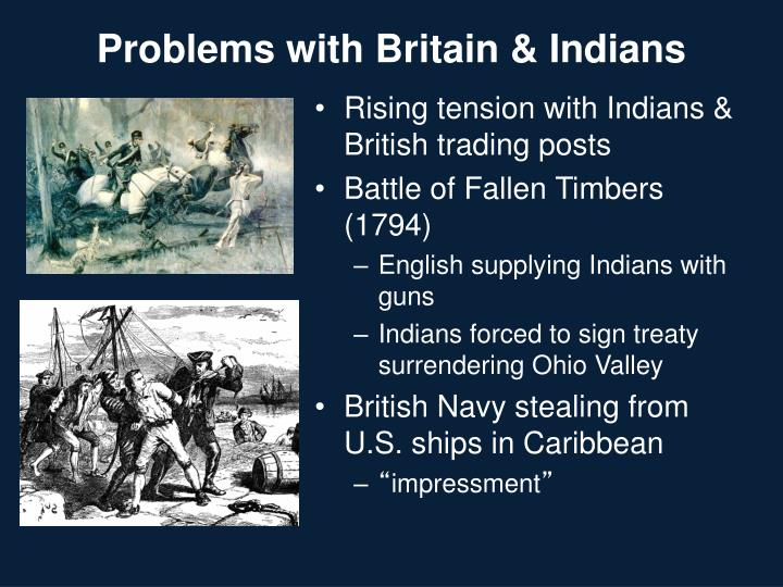 Problems with Britain & Indians