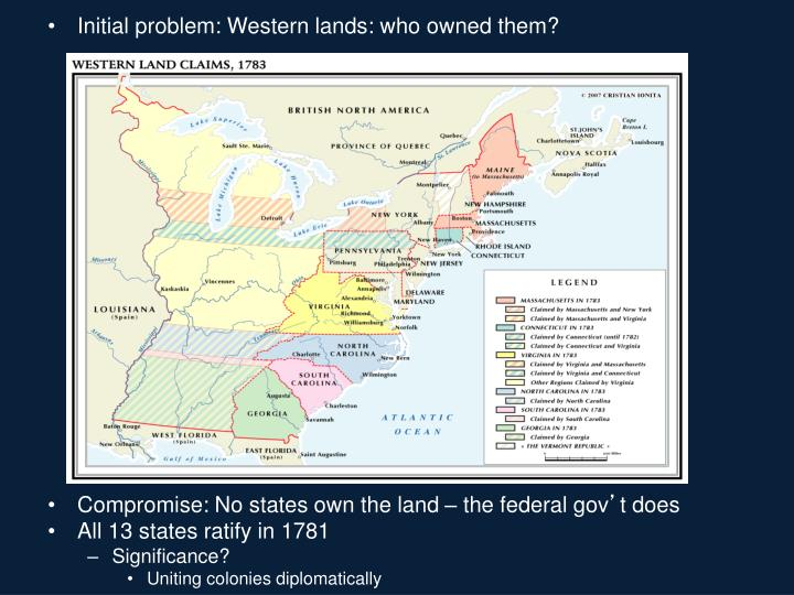 Initial problem: Western lands: who owned them?