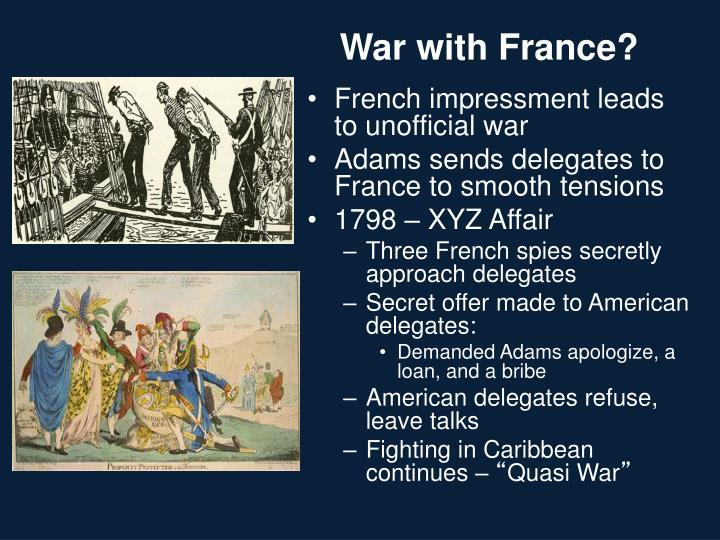 War with France?