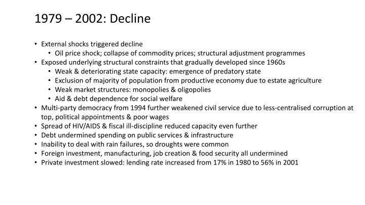 1979 – 2002: Decline